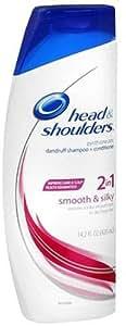 Head & Shoulders Smooth & Silky 2 in 1 Dandruff Shampoo + Conditioner 14.2 fl oz (420 ml)