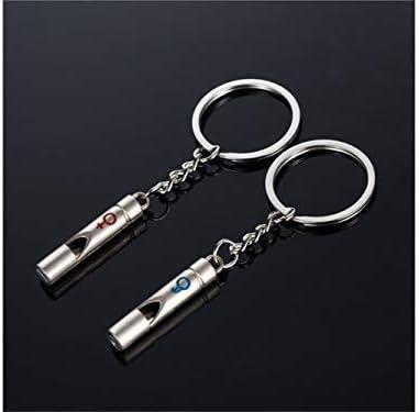 Yhcean Kreativ Kleine Pfeife Paar Anhänger Keychain für Autoschlüssel Handtasche Tasche Schlüsselanhänger (Silber) Tasche Ornament
