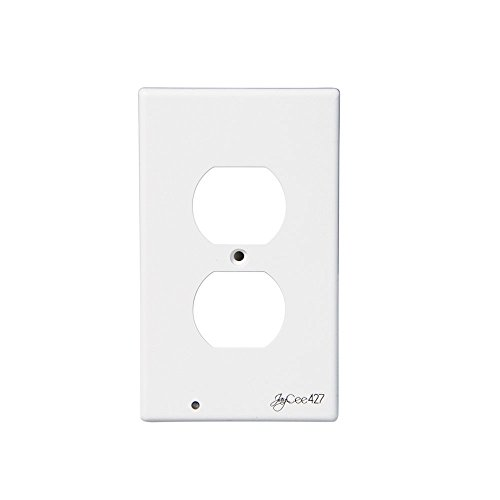 Price comparison product image LED Outlet Cover / Wall Cover Plate : Nightlight, Guidelight, Light sensor, Universal, In-door use, No Batteries Or Wires - Installs In Seconds -(Duplex, White)