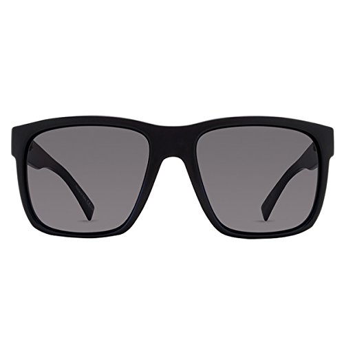 VonZipper Mens Maxis Sunglasses, Black Gloss w/Vintage Gray Lens One Size