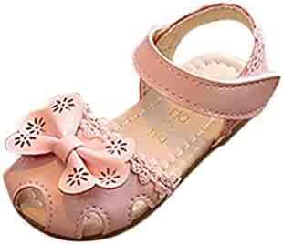 37253e8d645 TiTCool Baby Clothes Toddler Little Girls Summer Flower Sandals PU Leather  Closed-Toe Casual Outdoor