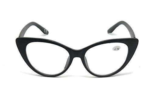 0120079b03e2 Stylish Cat Eye Fashion Reading Glasses   Sun Readers with Durable Metal  Hinges (Matt Black