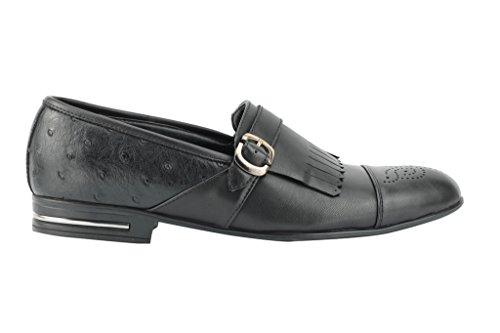 frange italiano stile On in Black marrone nappe nero finta Da chiaro uomo pelle Slip Casual con Smart Mocassino scarpe qA8HSAw6x