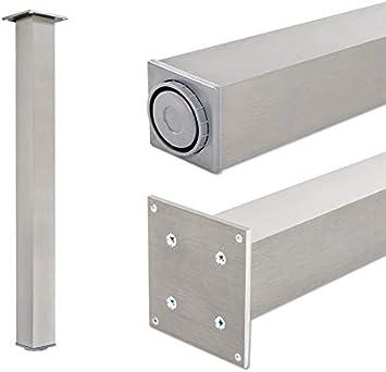 Pata extensibles de mesa, 100% aluminio   Sossai® Exclusivo E4TBGS   Perfil: plaza   Incluidos accesorios de montaje   1 unidades   Altura regulable 710 mm + 20 mm: Amazon.es: Bricolaje y herramientas