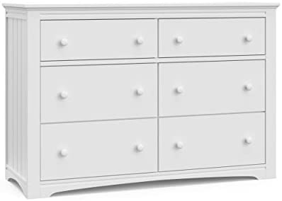 Storkcraft Graco Hadley 6 Drawer White Dresser