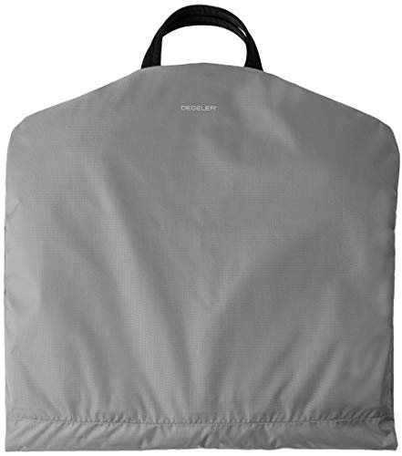 DEGELER Carry on Garment Bag for effortless Travel & Business Trips with unique Titanium Suit Hanger for Men & Women (Silver Grey)