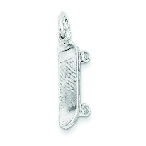 Sterling Silver Skateboard Charm Pendant Jewelry