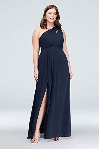 202a4fbe8b9 Long Chiffon Bridesmaid Dress with Asymmetric Neckline Style F18055