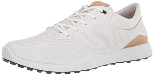 ECCO Women's S-Lite Golf Shoe, White Yak Leather, 8 M US (Shoes Athletic Ecco Womens)