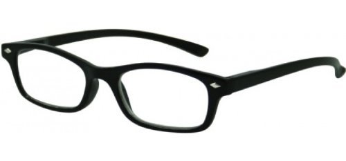 Sunoptic R19 Strength +3.00 Reading Glasses with Pouch Black by - Sunoptic Frames