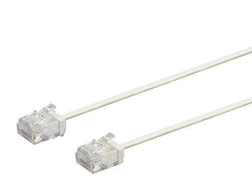 Monoprice Micro Slimrun Cat6 Ethernet Patch Cable - 50 Feet - Whiite, Stranded, 550MHz, Utp, Pure Bare Copper Wire, 32AWG (50' Cat6 Utp Patch)