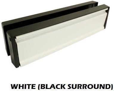 Buzón de PVC de 30,5 cm, color blanco con placa de matrícula negra (40 mm a 80 mm de profundidad): Amazon.es: Bricolaje y herramientas