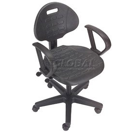 Puncture Proof Ergonomic Chair With Armrests Polyurethane Seat A