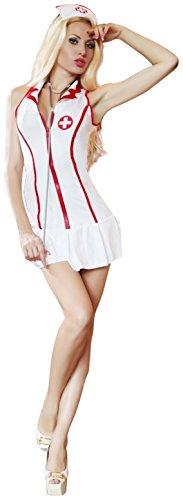 Sexy Head Nurse Costume Uniform Fancy Dress Outfit
