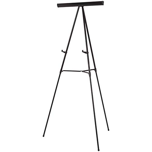 AmazonBasics Presentation Easel, Adjustable Height Telescope Tripod, Black ()