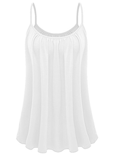 7th Element Womens Plus Size Cami Basic Camisole Tank Top (White,4XL)