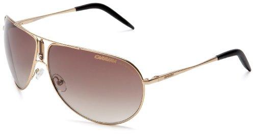 (Carrera Gipsy Aviator Sunglasses,Gold Semi Shiny Frame/Brown Gradient Lens,one size)