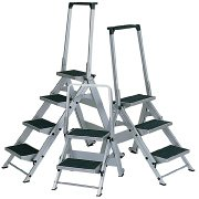Little Giant Ladder Systems 10410BA Safety Step Ladder Four Step with Bar, 2 x 11-Inch  (Step Giant Little Safety)