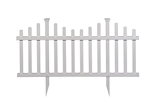Zippity Outdoor Products ZP19001 No-Dig Vinyl Picket Unassembled Garden Fence (2 Pack), 30' x 58', White