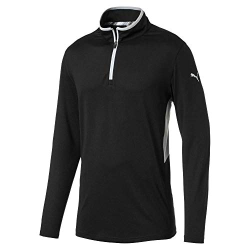 Puma Golf Men's 2019 Rotation 1/4 Zip, Puma Black, Medium
