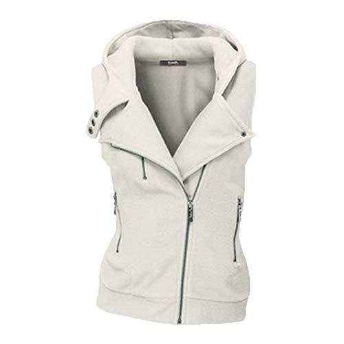Zipper Waistcoat Coat Slim Winter White Autumn Jacket Women Cheyuan Cardigan Sleeveless Casual Vest Vest Female nAqzw8yOaC