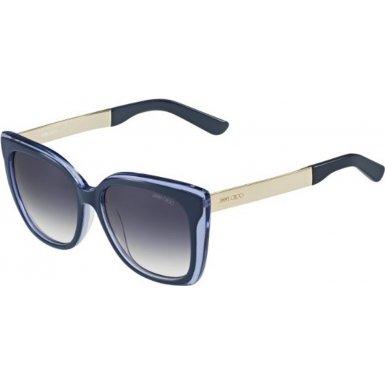 Jimmy Choo Octavia Sunglasses Blue Purple / Smoke - Jimmy Sunglasses Blue Choo