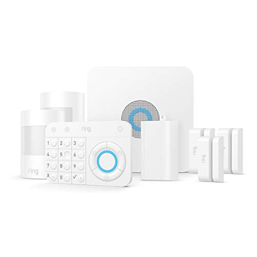 Ring Alarm – Home Security System with optional 24/7 Professional Monitoring – No contracts – 8 piece kit – Works with Alexa