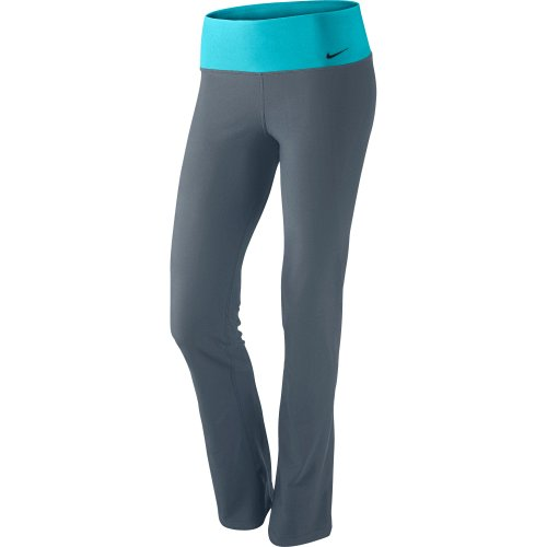 NIKE Legend 2.0 Slim Poly Ladies Training Trousers, Grey/Blue, (Poly Womens Trousers)