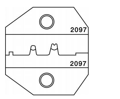 Greenlee 2097 CrimpALL 1300/8000 Series Die For D-Sub Crimper -