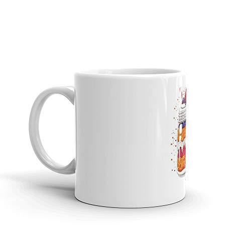 Strawberry and Blueberry shortcake in a jar Mug 11 Oz White Ceramic ()