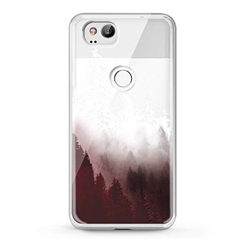 (Lex Altern TPU Google Pixel 2016 Cases 3 XL 2 Snow Trees Clear Phone Cover Painted Luxury Beauty Print Girl Especial Magic Protection Watercolor Design Women Transparent Flexible Silicone Unique Gift)