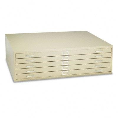 Safco - Five-Drawer Steel Flat File 53-1/2W X 41-1/2D X 16-1/2H Tropic Sand ''Product Category: Office Furniture/File & Storage Cabinets''