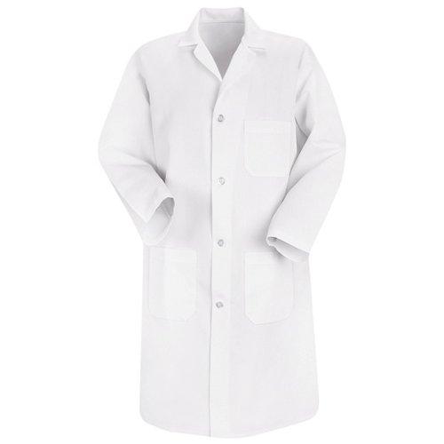 Red Kap Men's Lab Coat, White, Large