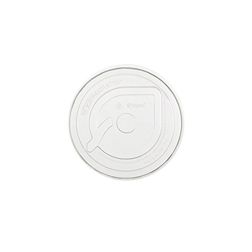 Eco-Products - GreenStripe Renewable & Compostable Cold Cup Flat Lids - Fits 9 - 24oz. Cold Cups - EP-FLCC (Case 1,000)