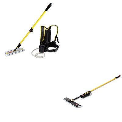 KITRCP3486108RCPQ979 - Value Kit - Light Commercial Spray Mop, 18quot; Frame, 52quot; Steel Handle (RCP3486108) and Rubbermaid Flow Finish Kit Flat (RCPQ979) by Rubbermaid