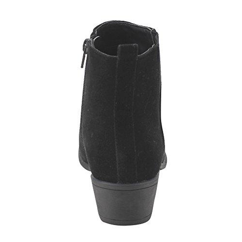 Beston DE04 Womens Chelsea Style Side Zipper Ankle Booties Half Size Small Ankle Bootie