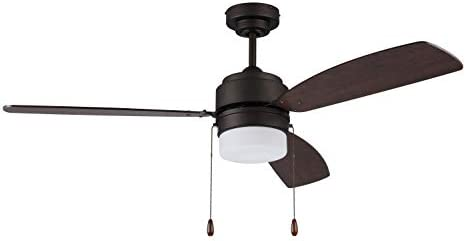 Litex Industries AU52EB3L Litex Ausmus Contemporary 52 Ceiling Fan Bronze Finish
