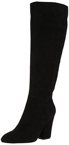 Women's Boot Suede Shearlingw West Knee Nine High Suede Black Wide UxAwHqOTpn