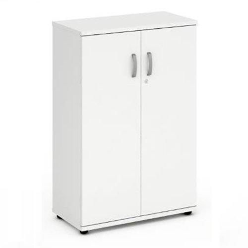 Phoenix 1200mm High Cupboard, Lockable Double Doors and 2 Adjustable Shelves - Office Cupboard From the Phoenix Office Furniture Range from Relax Office Furniture (White)