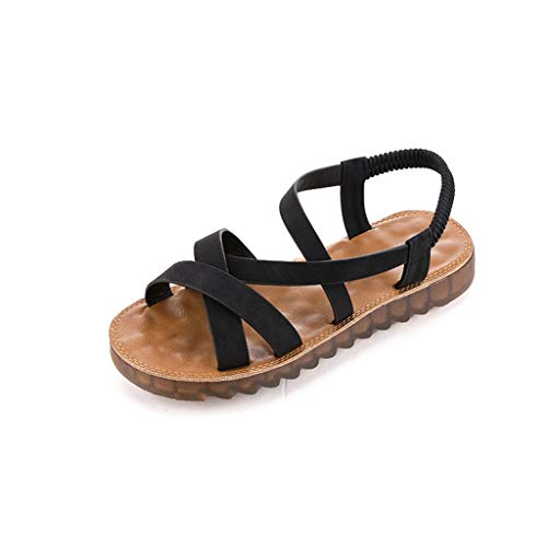 3d35f57f70f68 TnaIolral Women Sandals Roma Soft Flat Pregnant Student Round Toe Shoes