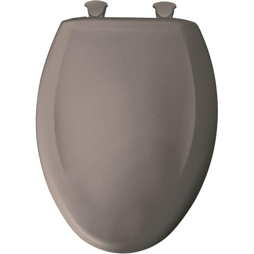 Bemis 1200SLOWT 468 Slow Close Sta-Tite Elongated Closed Front Toilet Seat, Classic - Front Mink