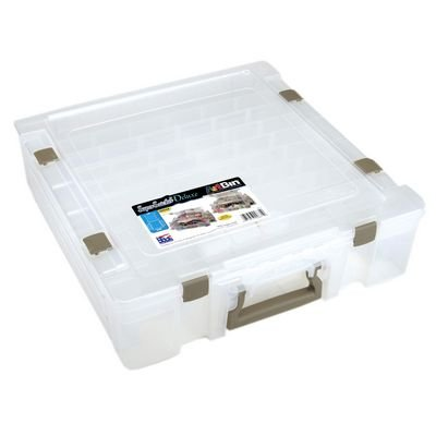 ArtBin Super Satchel Deluxe 1-Compartment/Divided Base-Clear, 6981AB