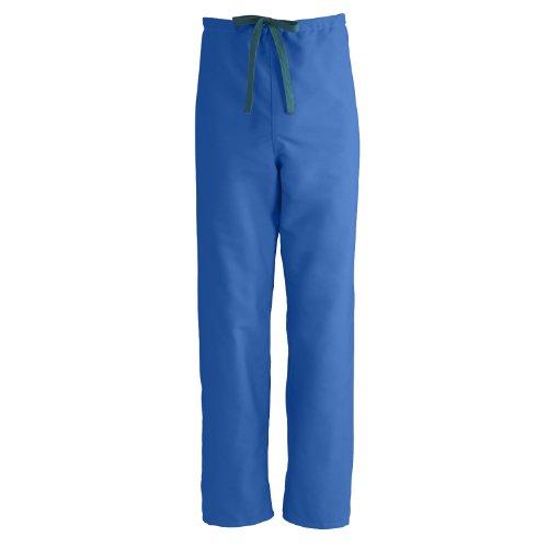 Medline ComfortEase Reversible Drawstring Scrub Pant, MDL-CM, Small, Royal - Pants Medline Scrub Comfortease