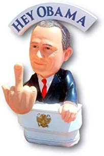 Bobble Fingers Vladimir Putin Bobble Doll Bobblehead Style Middle Finger Hey Hillary Flippin Off Bobbling Hands Limited Edition Large Statue Gift Box Amazon Sg Toys Games