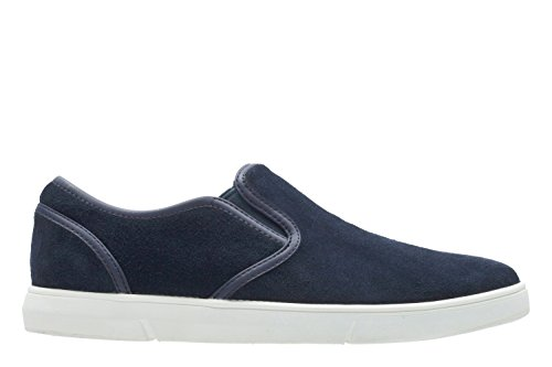Clarks Casual Hombre Zapatos Lander Step En Ante Azul