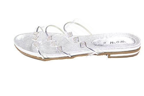 Wear & Walk UK , Damen Sandalen 42 Silber