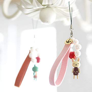 GJ10 full bag mail South Korea creative animal pearl the Mobilephone's Accessories/Mobilephone strap -Mobile Phones & Accessories Gadgets - (Pink) - 1 x Mobile phone strap]()