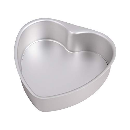 Bakerdream Heart Cake Pan Heart Shaped Cheesecake Pan Non-Stick Baking Pan with Removable Bottom Baking Tray Tins (8 inch) ()
