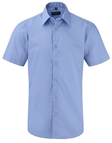 Bleu Collection Homme Manches Russell À Pour Corporate Chemise Blue Courtes wT70nI