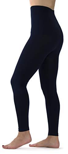 Ylluo Premium Tummy Support Slimming Leggings Thick High Waist Fleece and Non Fleece (L/XL/XXL (US Size 12-18), Navy Blue) ()